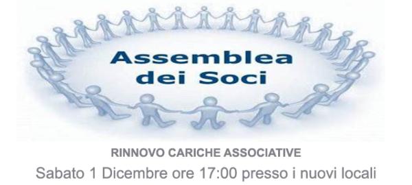 ASSEMBLEA ORDINARIA DEI SOCI 2018 PER RINNOVO CARICHE ASSOCIATIVE