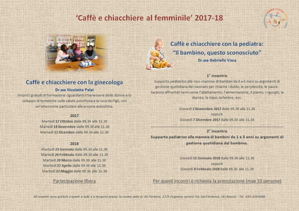Caffè e chiacchiere 2017