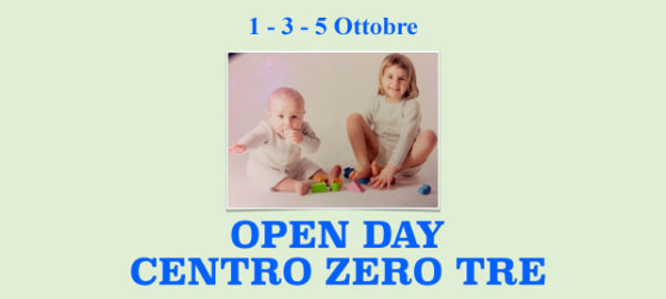 Open Day Centro Zero-Tre