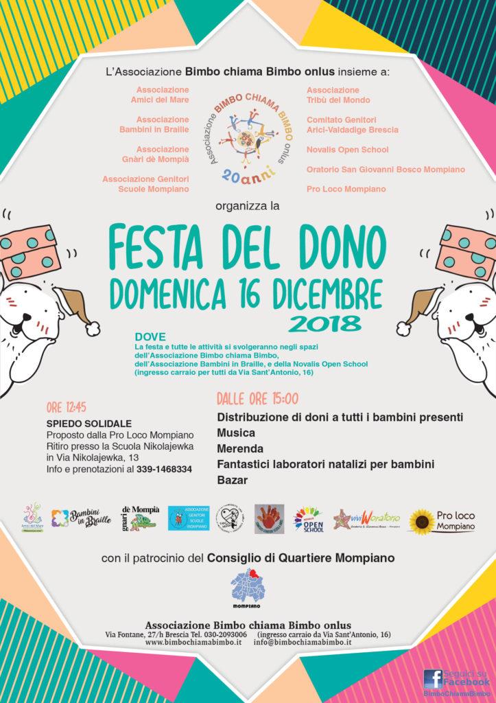 Festa del Dono 2018 (locandina)