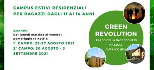 GREEN REVOLUTION 2021 – PROPOSTA ESTIVA PER RAGAZZI