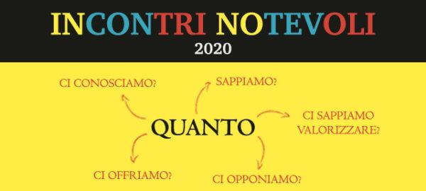 INCONTRI NOTEVOLI 2020