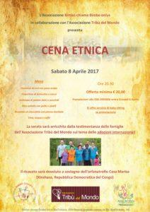 Locandina Cena Tribù del Mondo 08-04-2017 (anteprima)